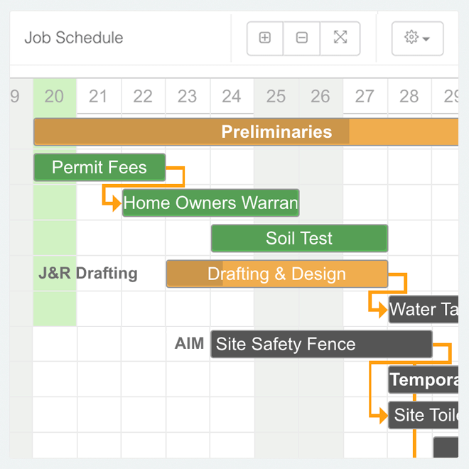 Create job schedules automatically from estimates, then send reminder messages to the user's sub-contractors automatically