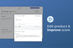 AdNabu for Google Shopping screenshot: Edit Product & improve score