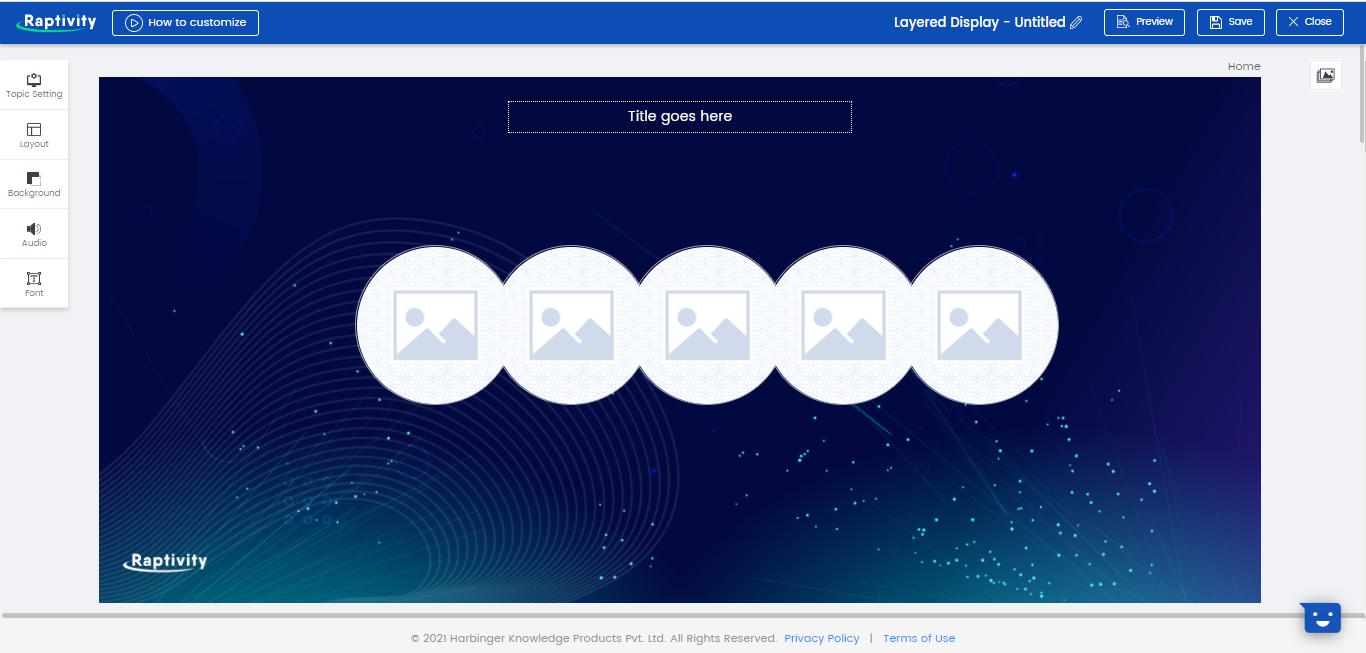 Raptivity Software - Raptivity customization