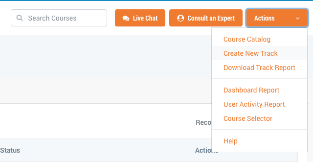 tryHRIS easily create training tracks