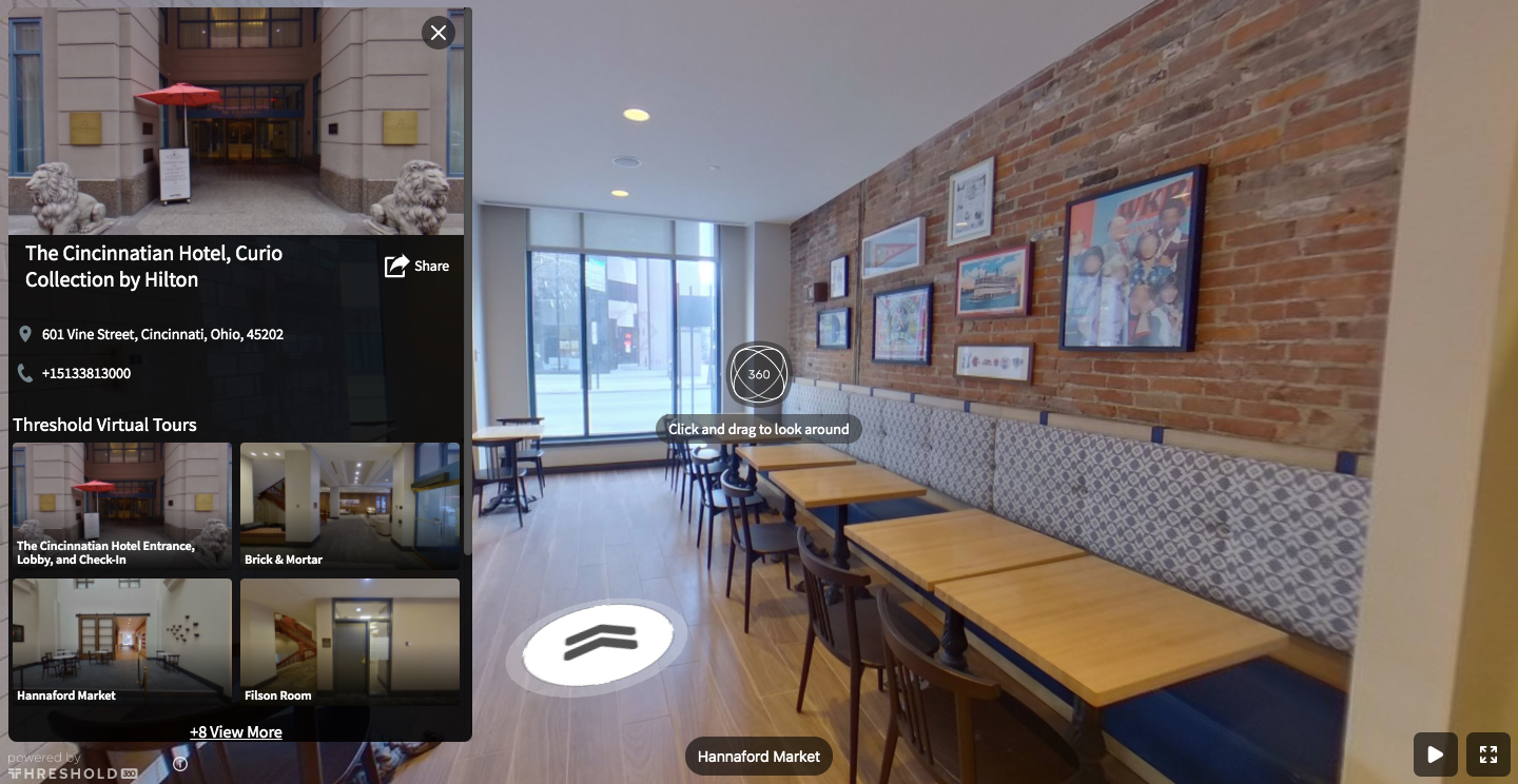 Publish interactive, 360° virtual tour and location information through a Threshold Share Page link. - Available with the Threshold Platform.