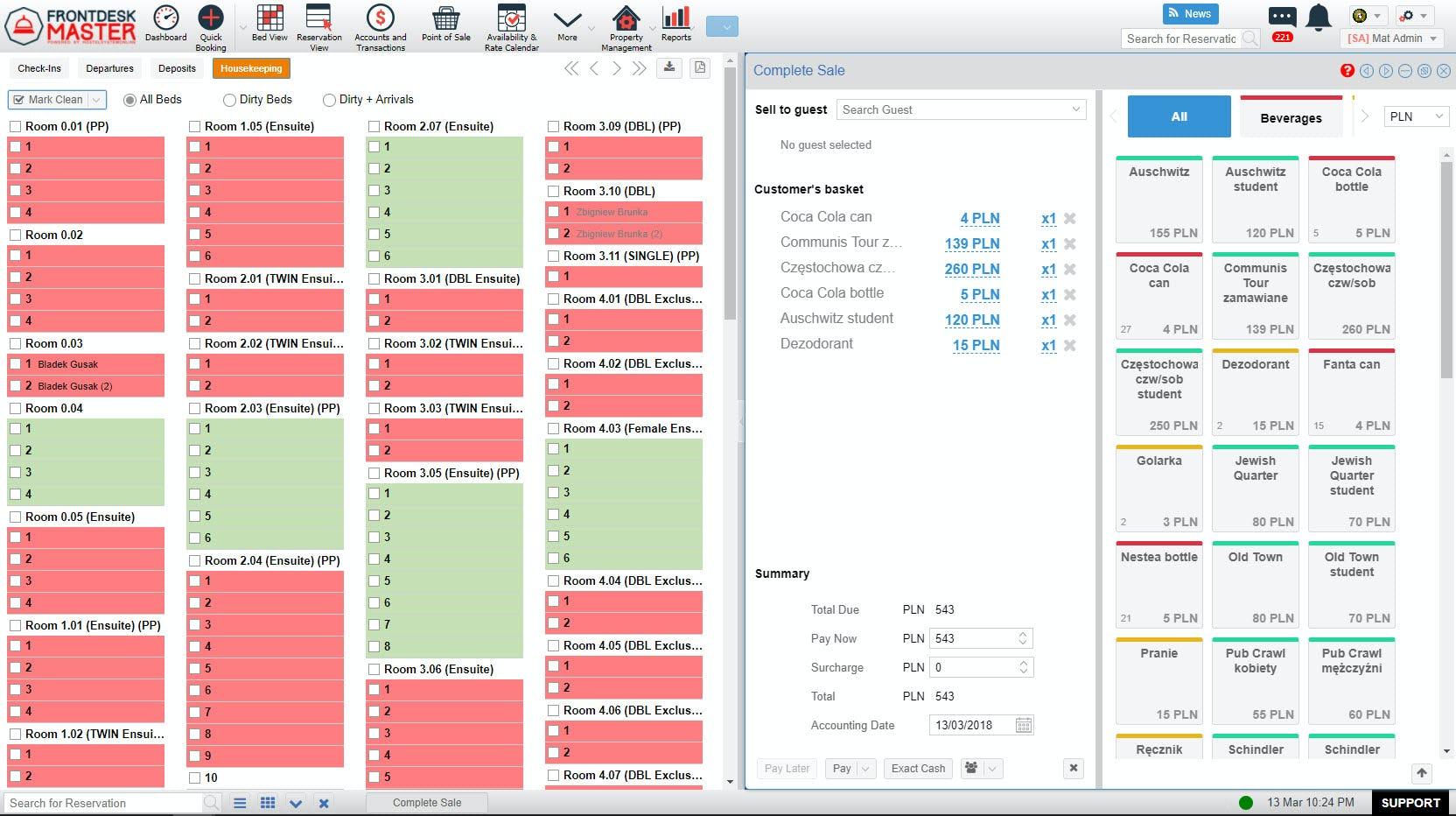 FrontDesk Master Software - Housekeeping