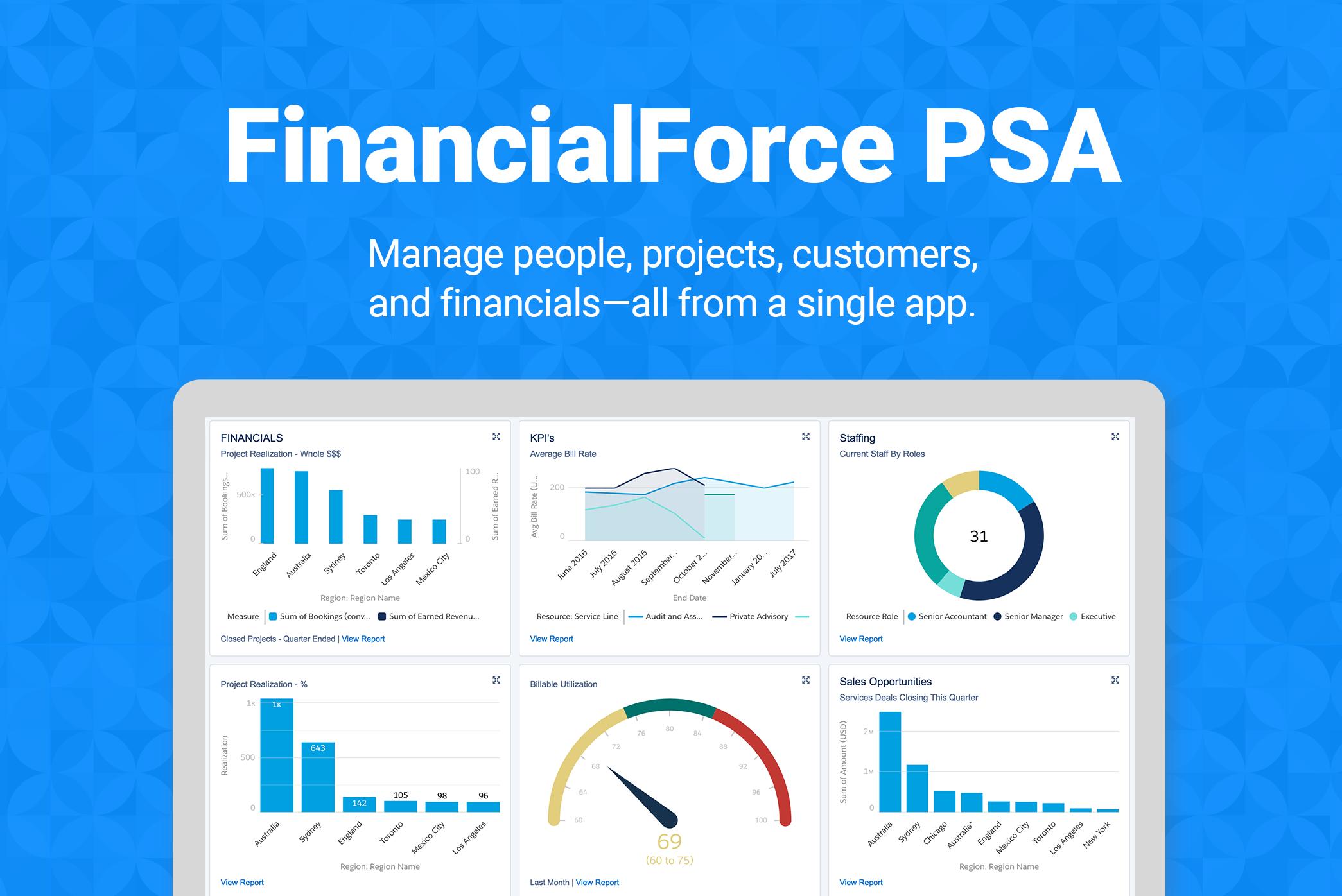The leading PSA solution on the Salesforce Platform
