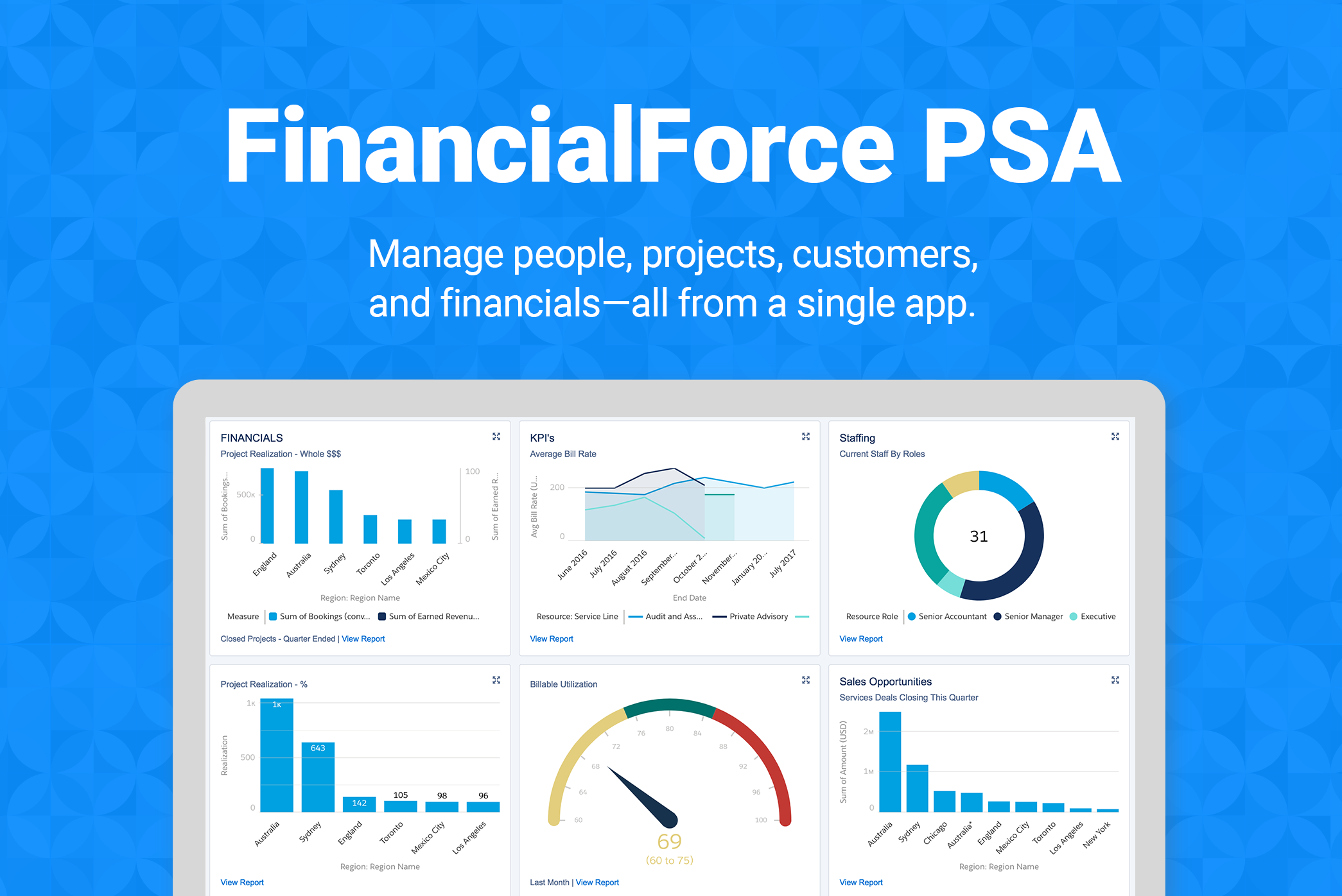 FinancialForce PSA screenshot: The leading PSA solution on the Salesforce Platform