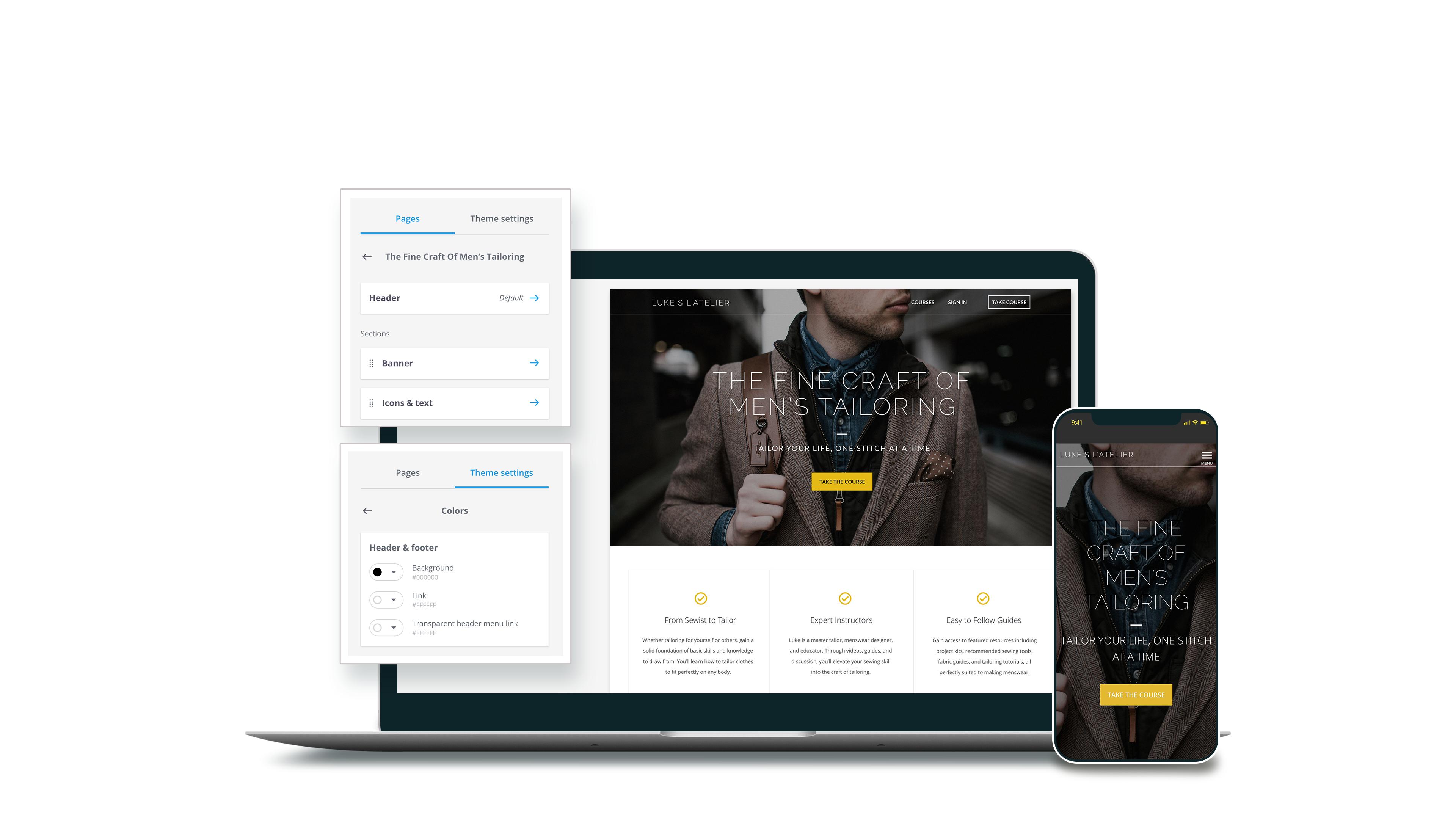 Create Beautiful Online Course Sites