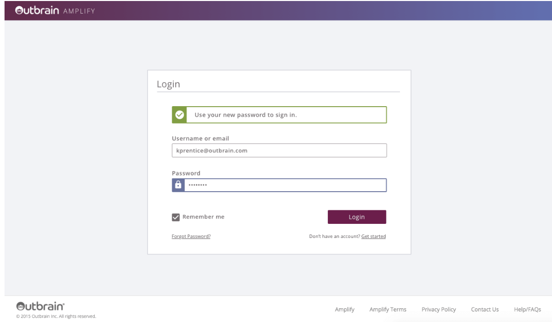 Outbrain Software - Login page