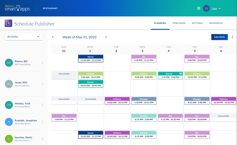 Schedule Publisher calendar view