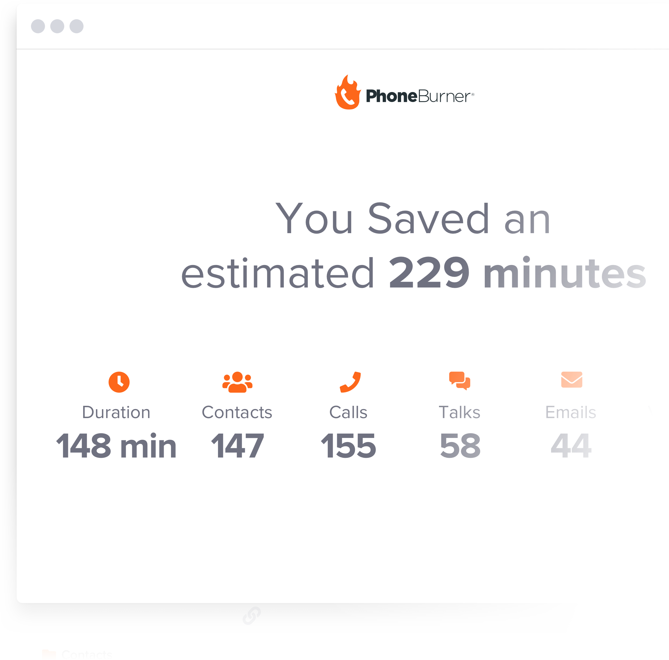 PhoneBurner saves you time and automates tedious tasks. Have up to 4x more live conversations every dial session.