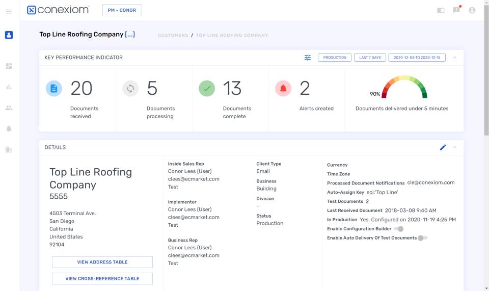 Conexiom customer profile