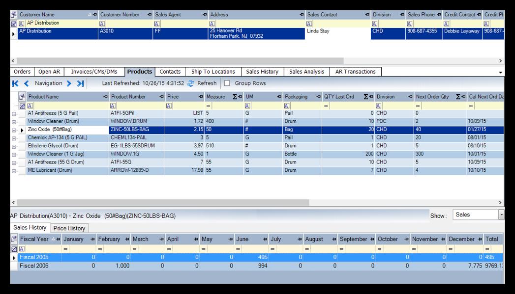 Datacor ERP Software - Customizable Profiles