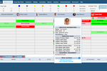 SkyBoss screenshot: A flexible drag and drop calendar is color-coded to give an overview of upcoming scheduling at a glance