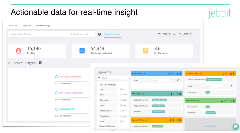 Jebbit Actionable data for real-time insights