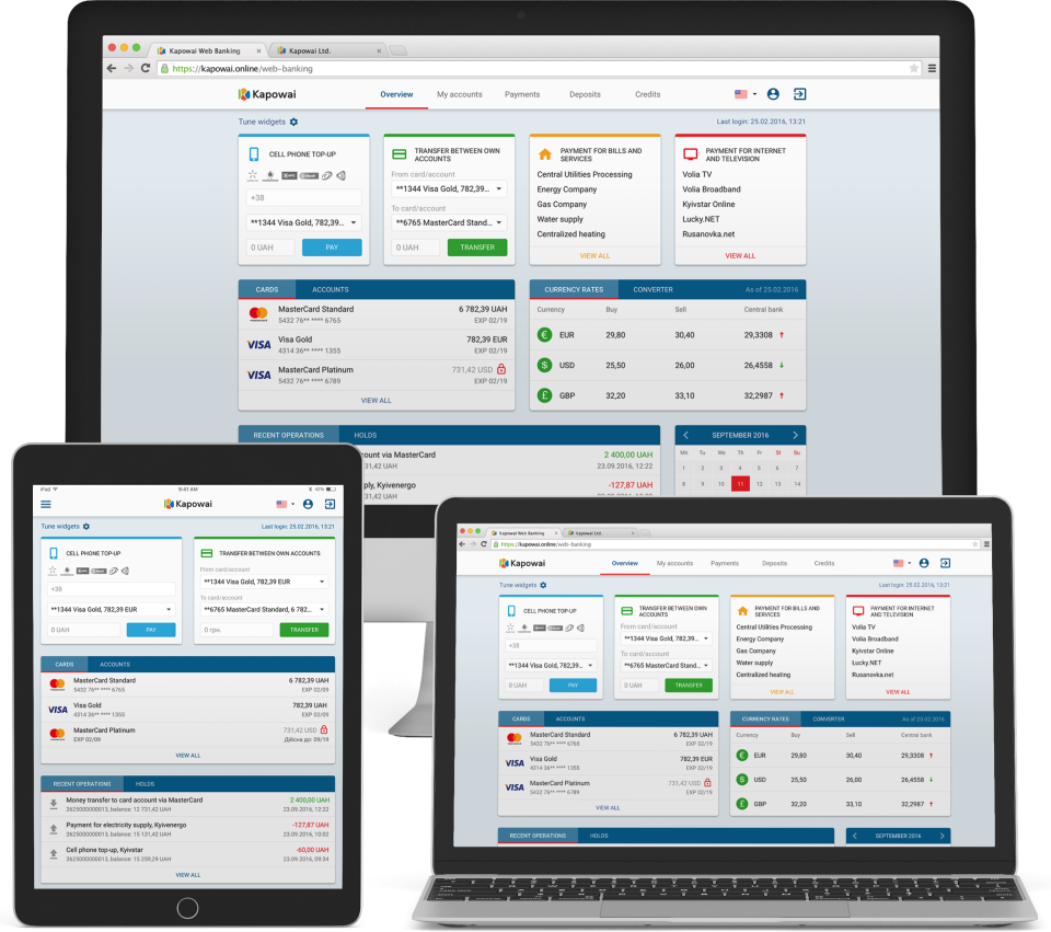 Kapowai apps work across multiple devices