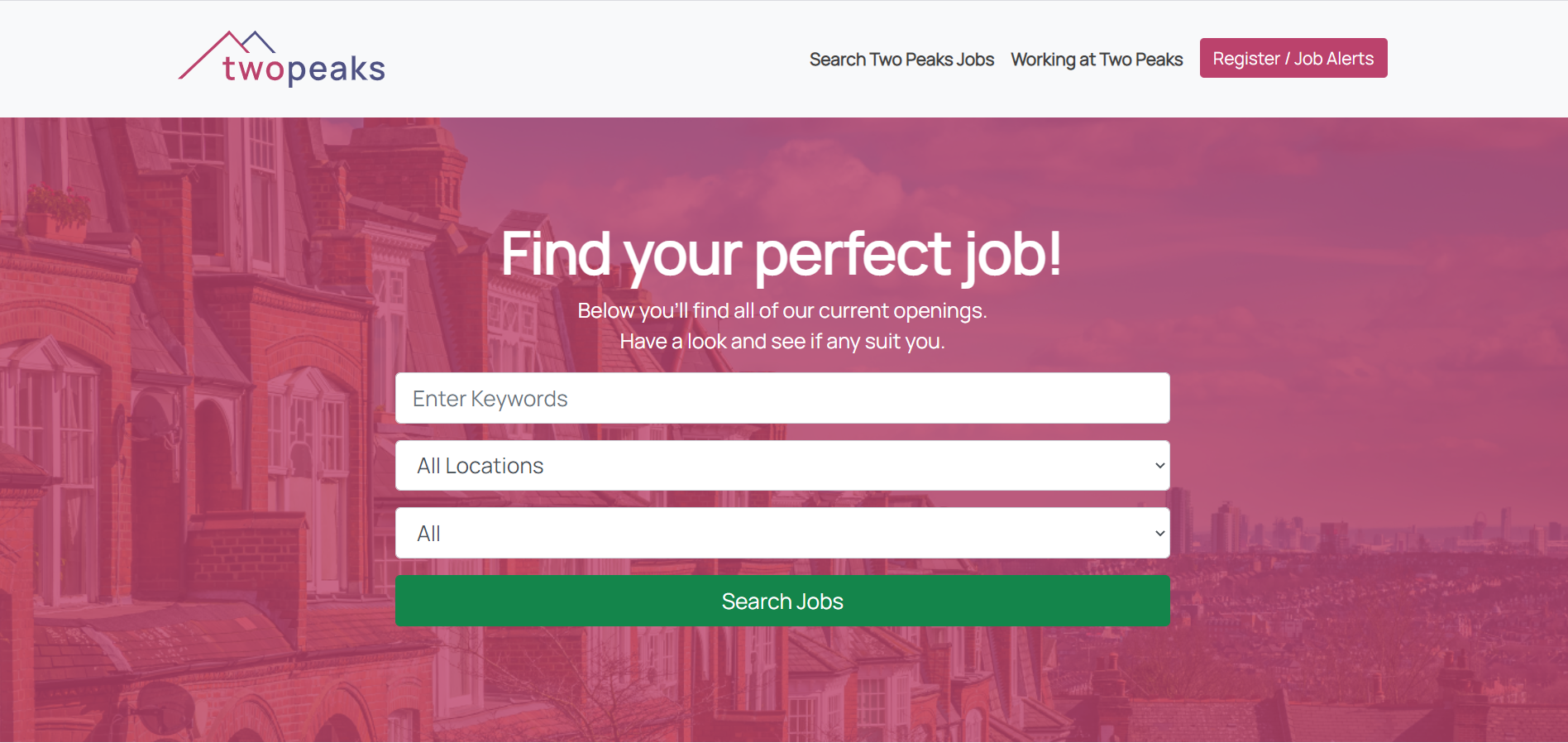 Vacancy Search Page