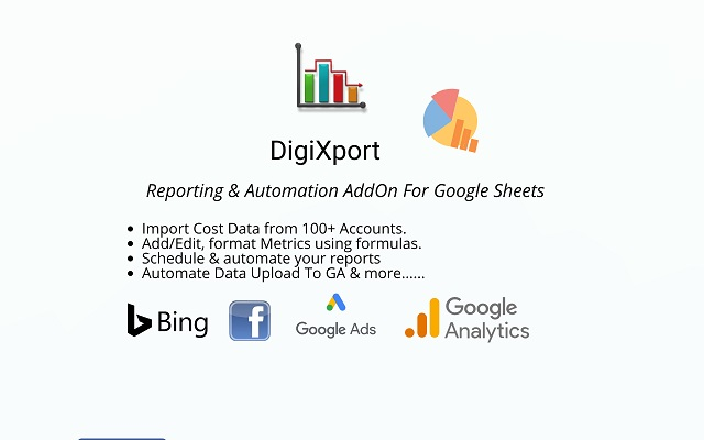 DigiXport reporting add-on for Google Sheets