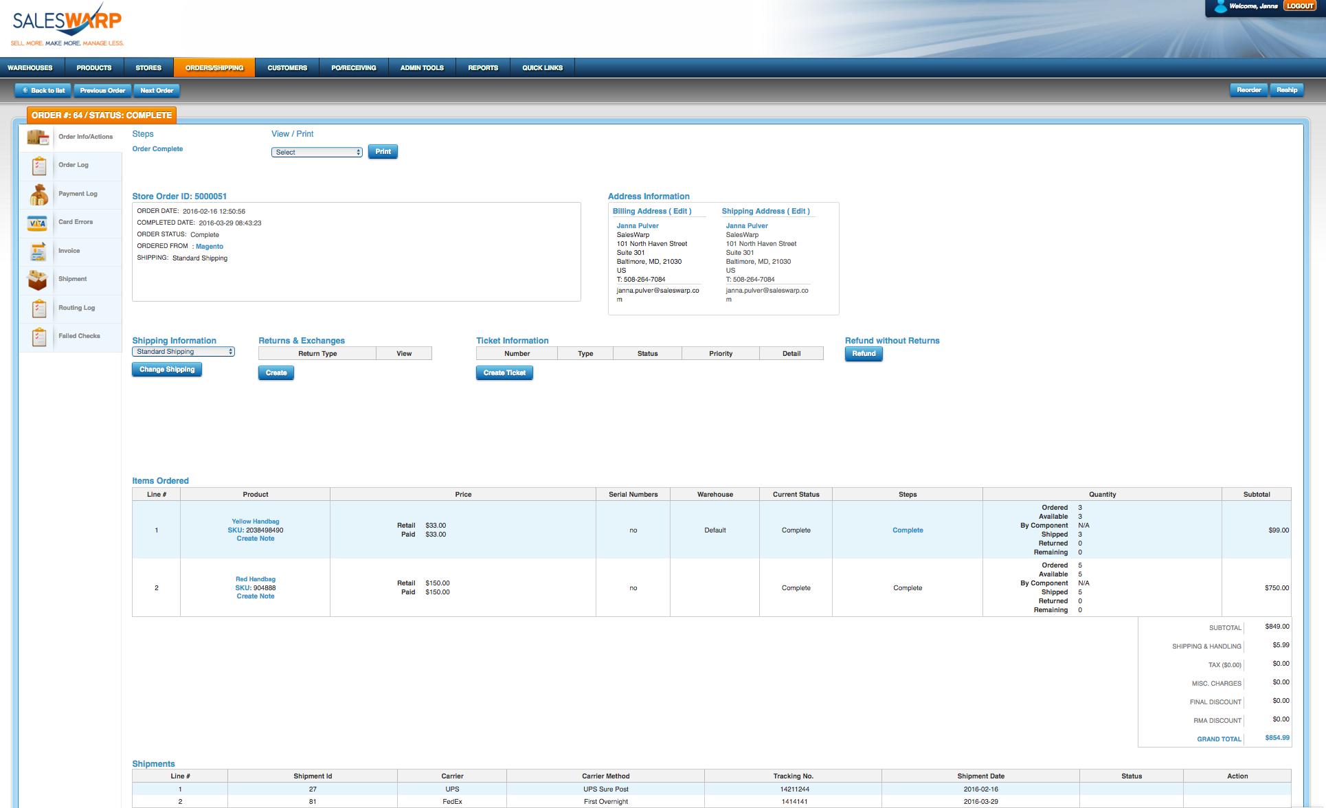 SalesWarp Software - 2