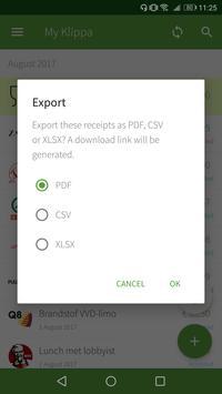 Klippa data export