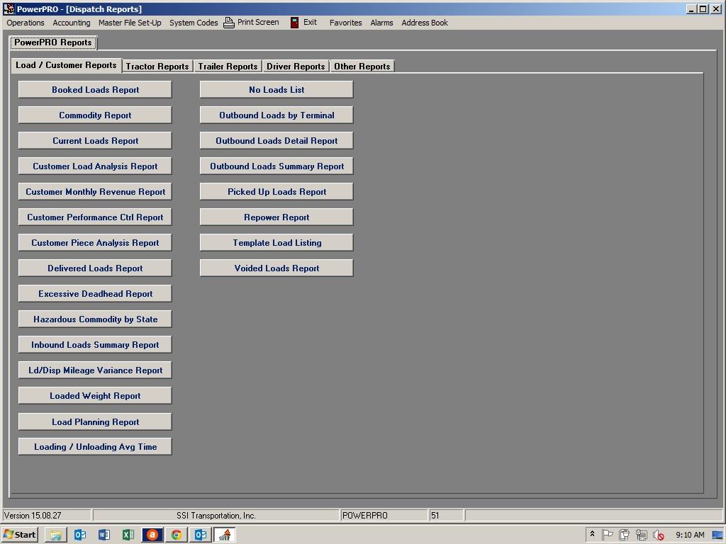PowerPRO Software - Management reporting
