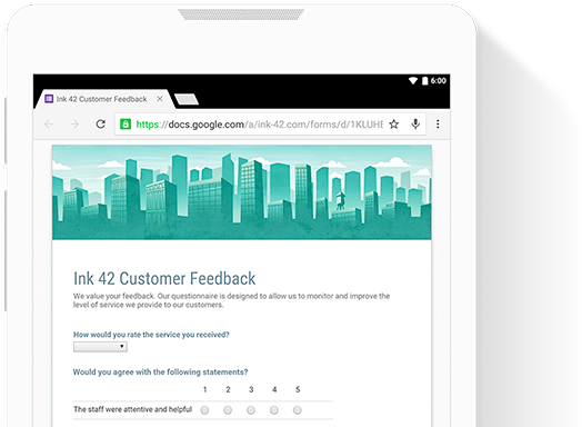 Create custom forms for online surveys and questionnaires