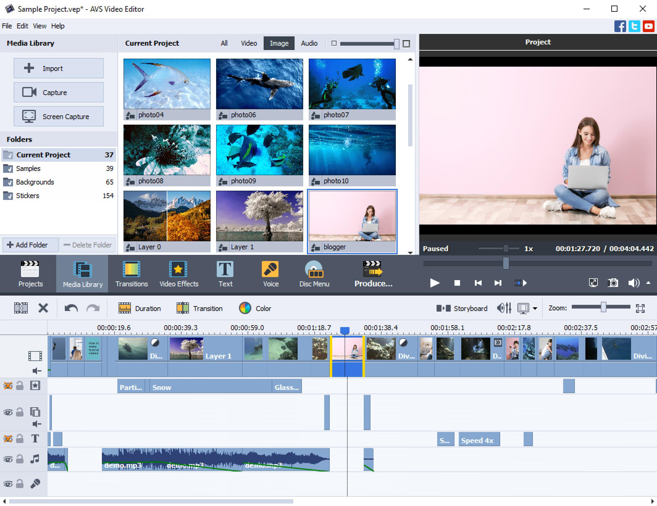 AVS Video Editor - Main Window