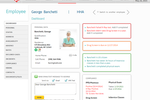 Carecenta screenshot: Users can view employee-specific compliance details on employee profiles in Carecenta