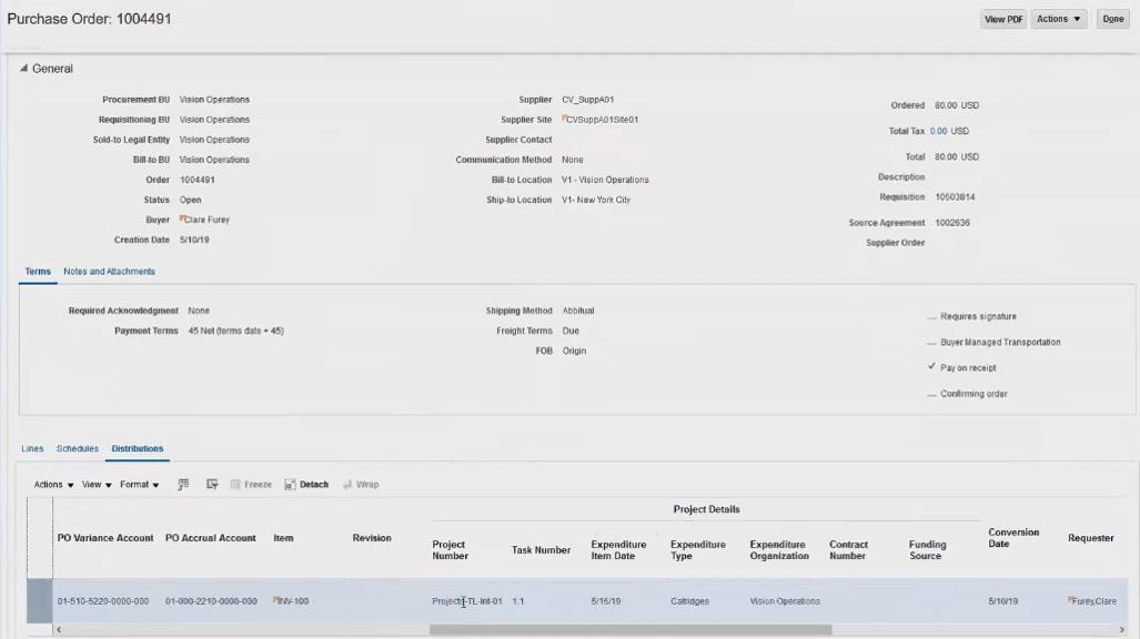 SAP ERP sales order