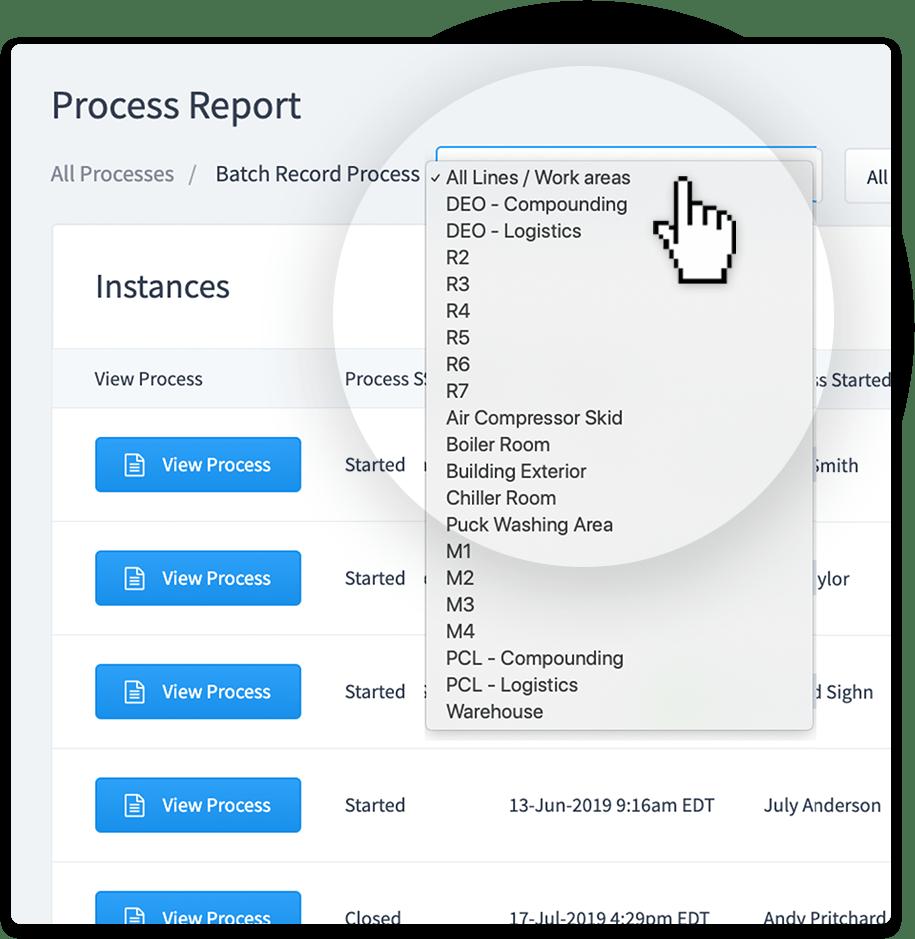Process Manager report screenshot