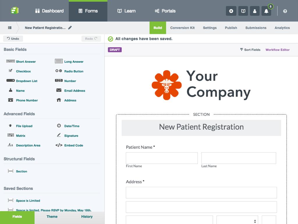 Formstack Forms screenshot
