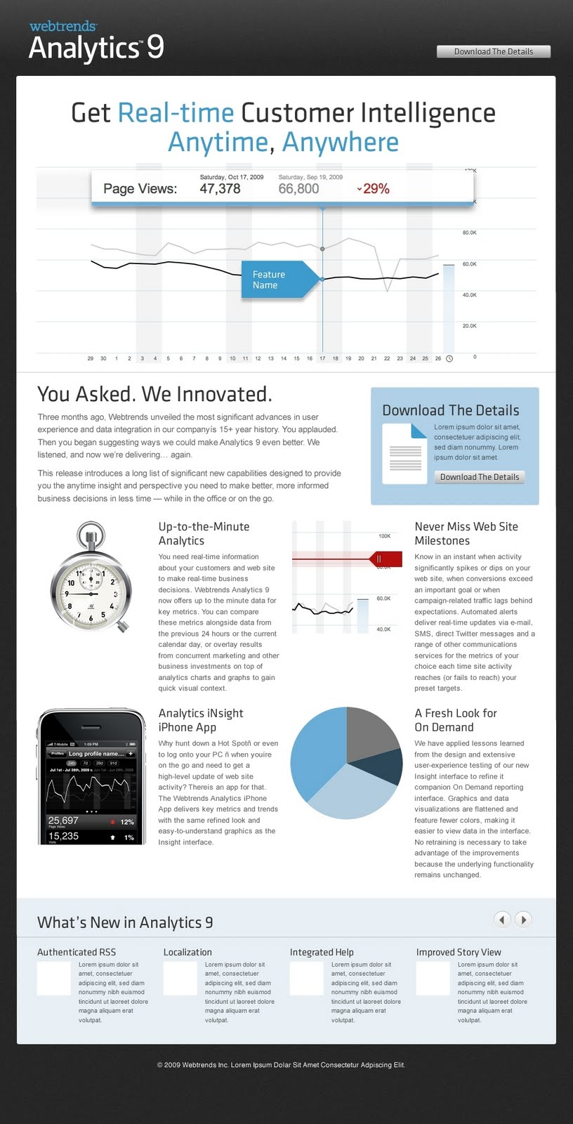 Webtrends screenshot: WebTrends - Analytics - Analytics 9