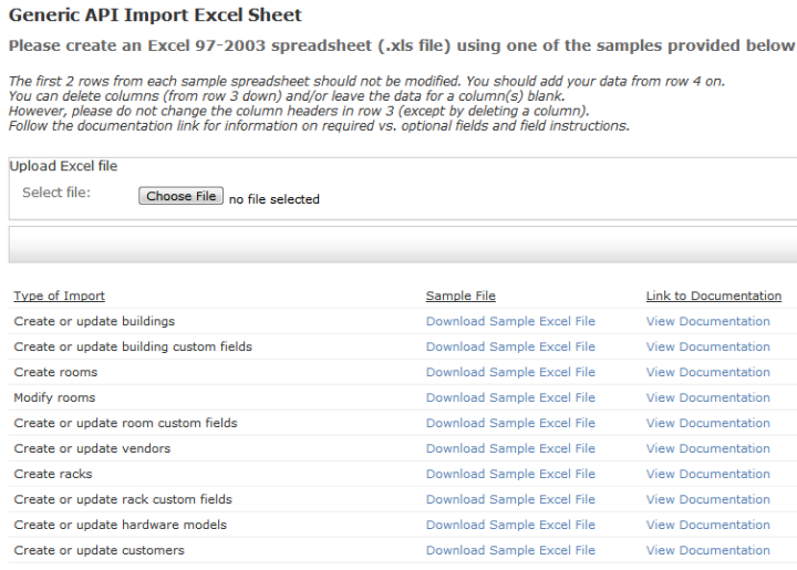IP Address import facilities from existing or new Excel spreadsheets