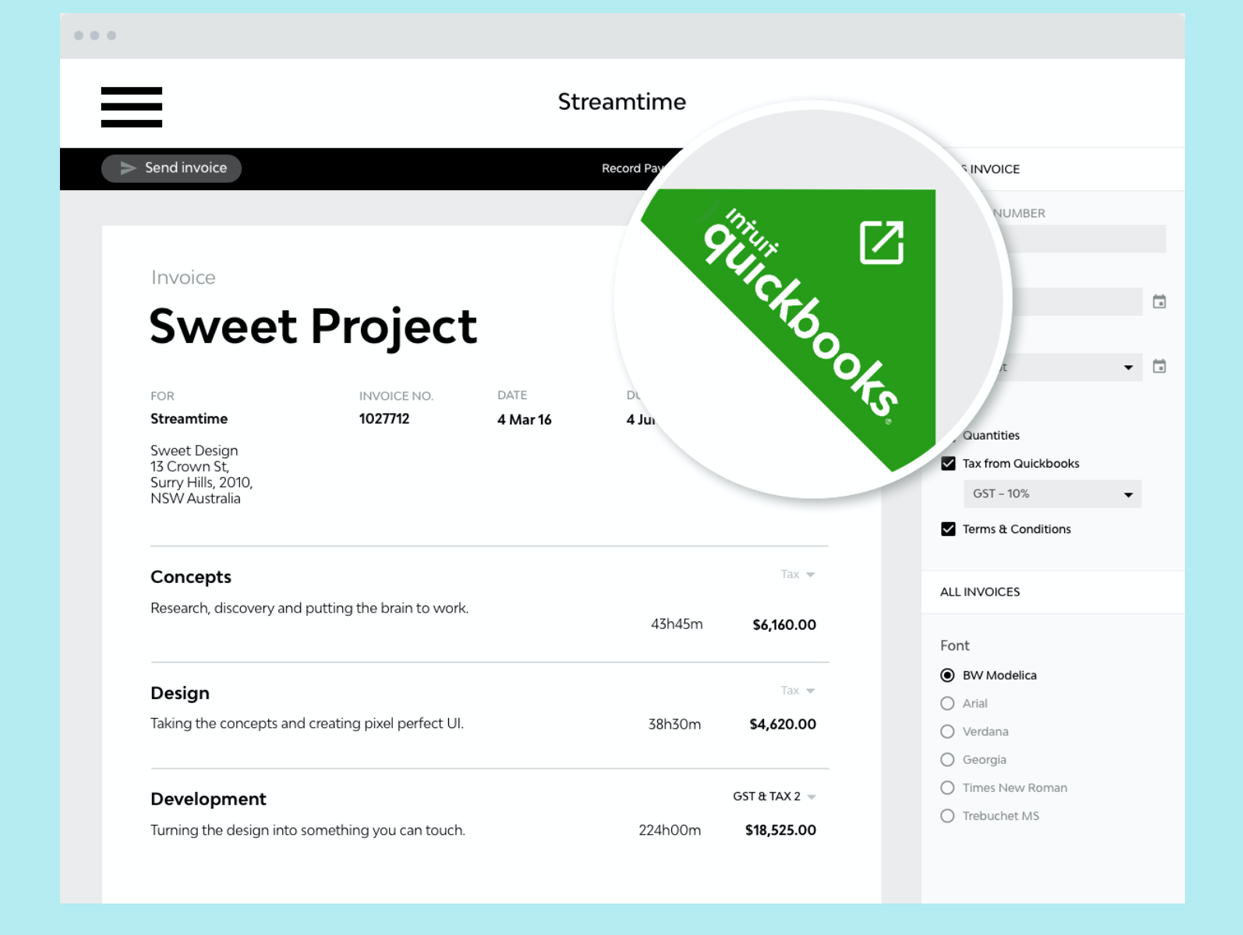 Streamtime Software - Xero, MYOB and Quickbooks integrations