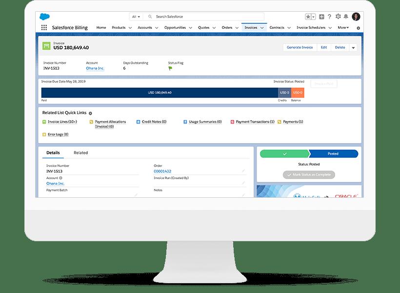 Salesforce CPQ invoicing