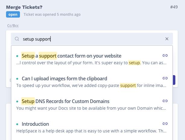 Docs integration - Tickets