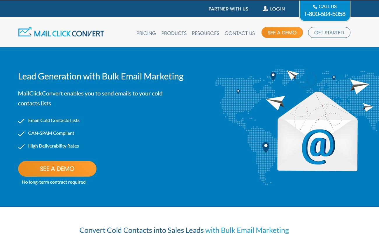 MailClickConvert Website