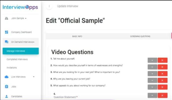 InterviewOpps screenshot: InterviewOpps interview questions