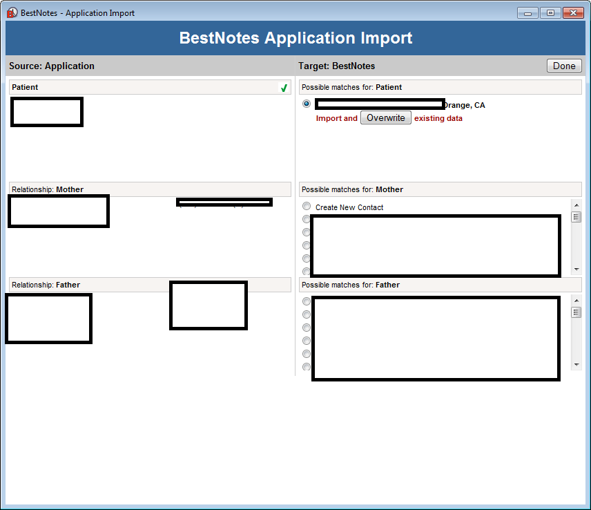 Import patient record and data form other EHR services to BestNotes with application import feature