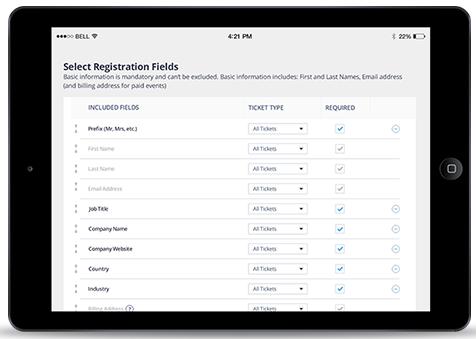 Bizzabo Software - Customizable fields