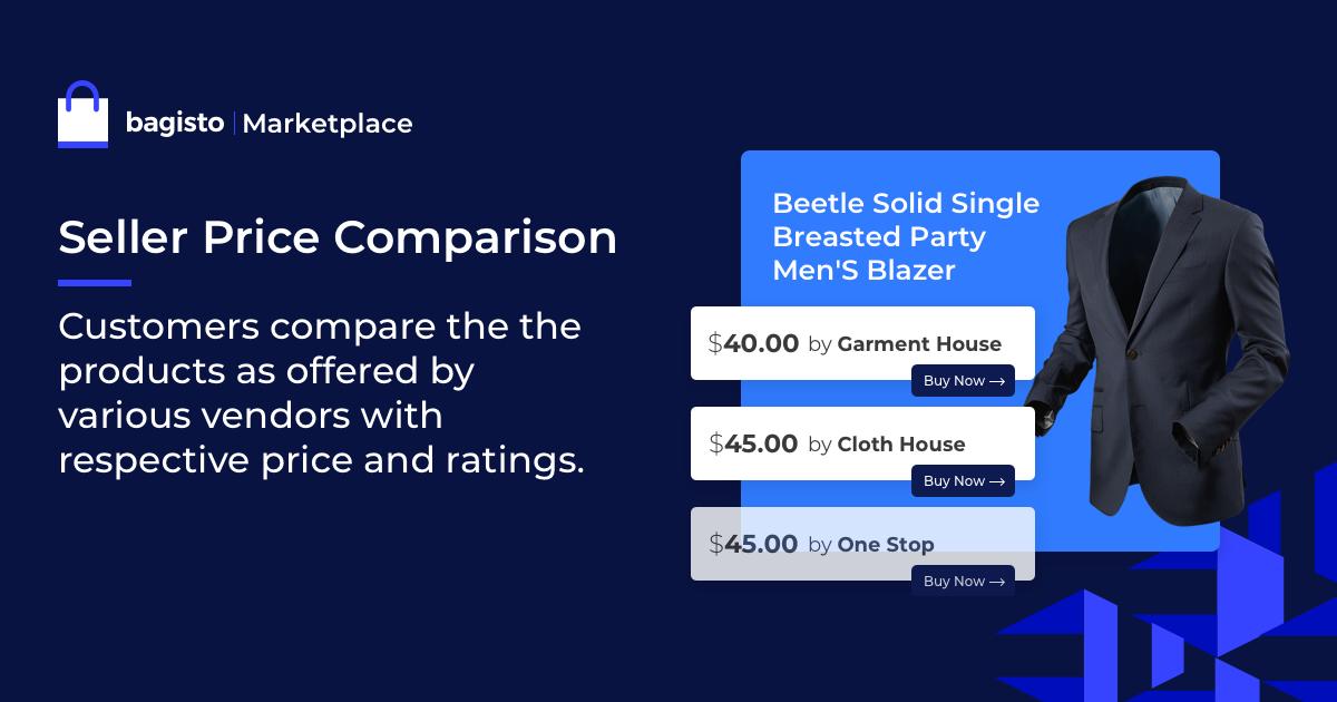 bagisto Seller Price Comparison