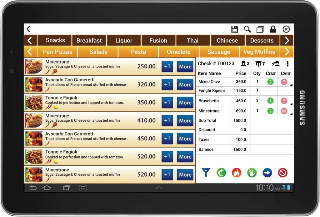 mycloud PMS Software - Tablet point of sale