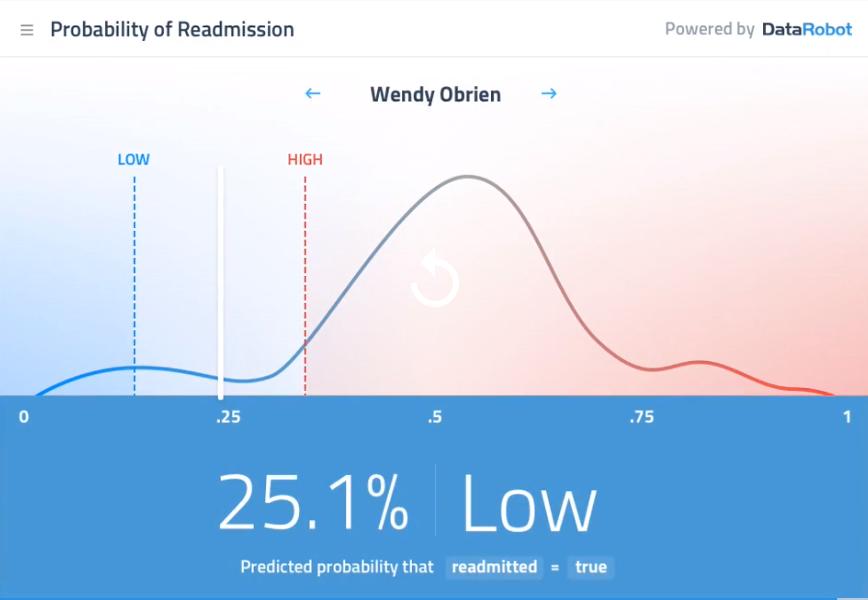 DataRobot predictions results