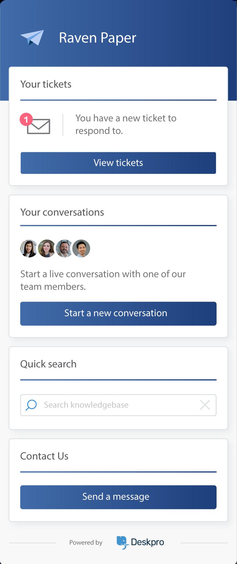 Live Chat (Messenger Widget)