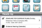 Legal Files screenshot: Legal Files task deadlines
