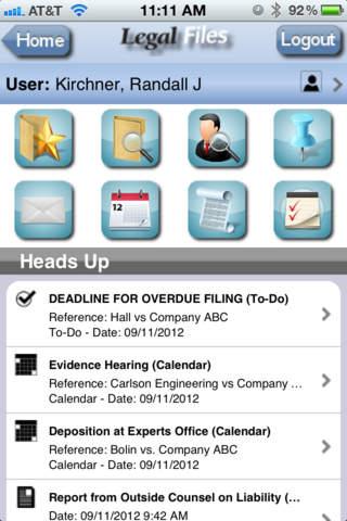 Legal Files task deadlines