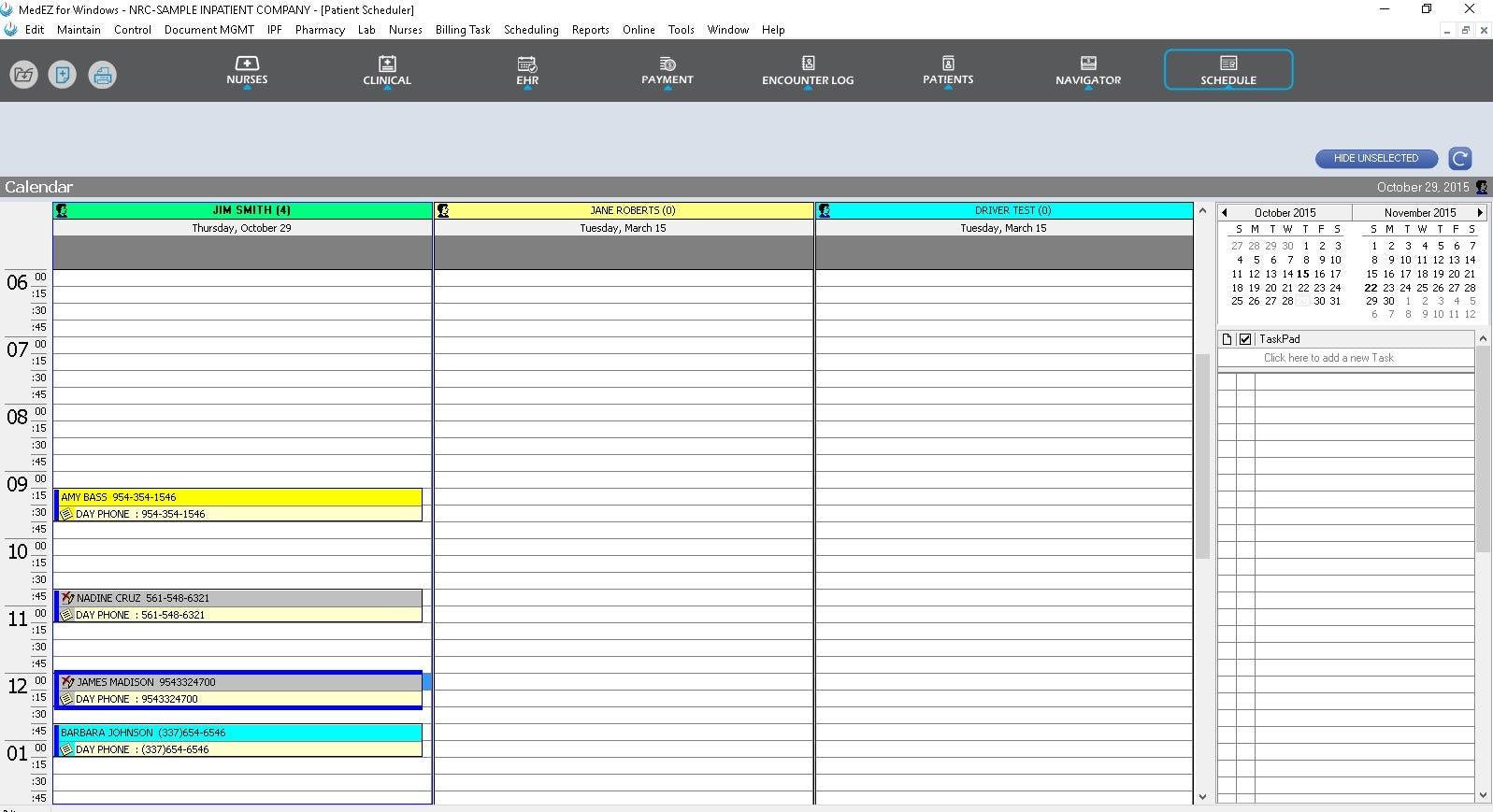 MedEZ Software - Schedule