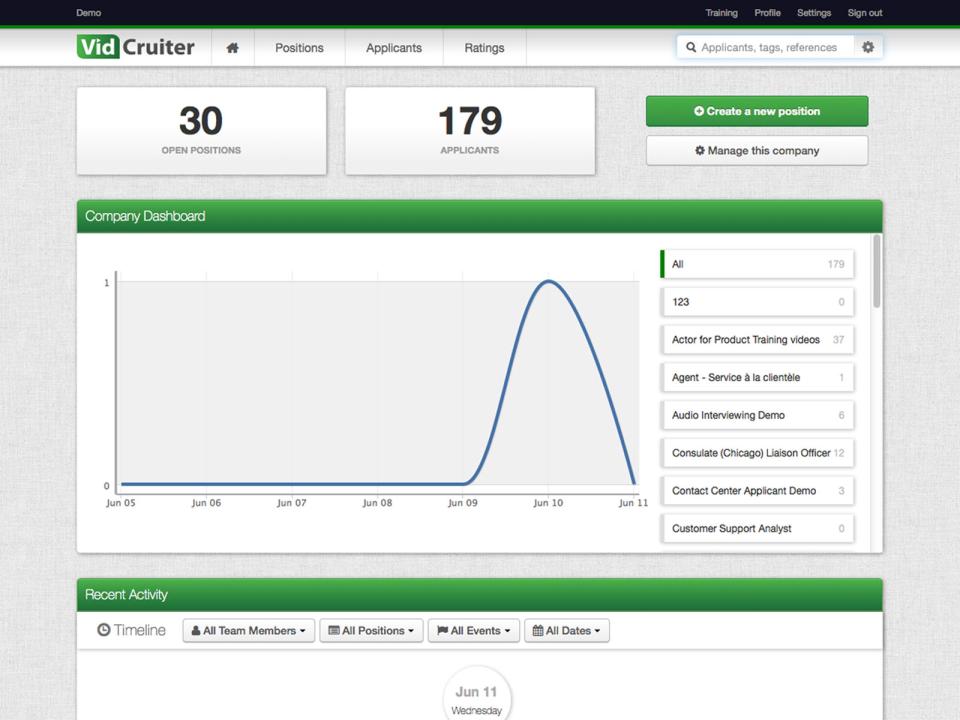 VidCruiter Software - 4