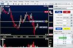 MotiveWave screenshot: MotiveWave Trade Panel - One Click Trading