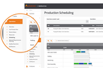 Business Cloud Essentials screenshot: Managers can use the scheduling module to streamline production
