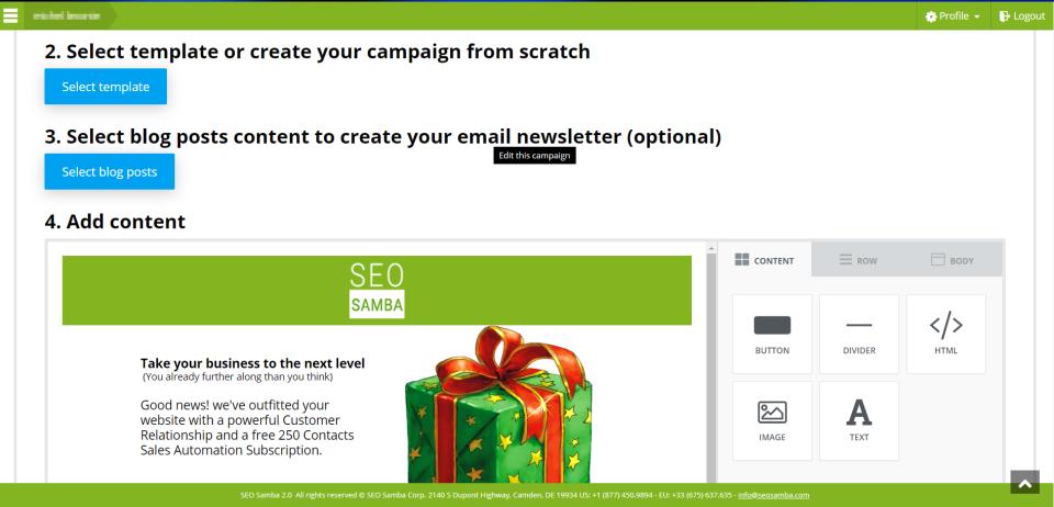 SeoSamba Email Marketing Software - 1