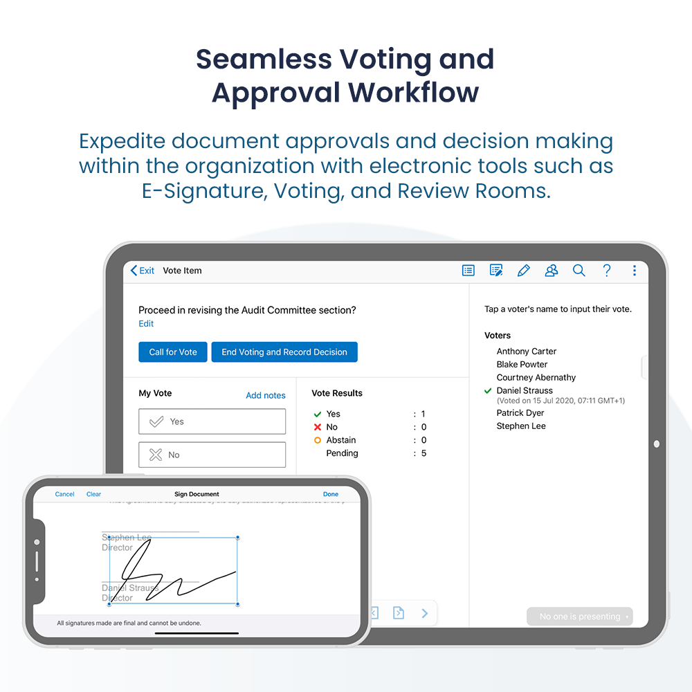 Voting and Approvals
