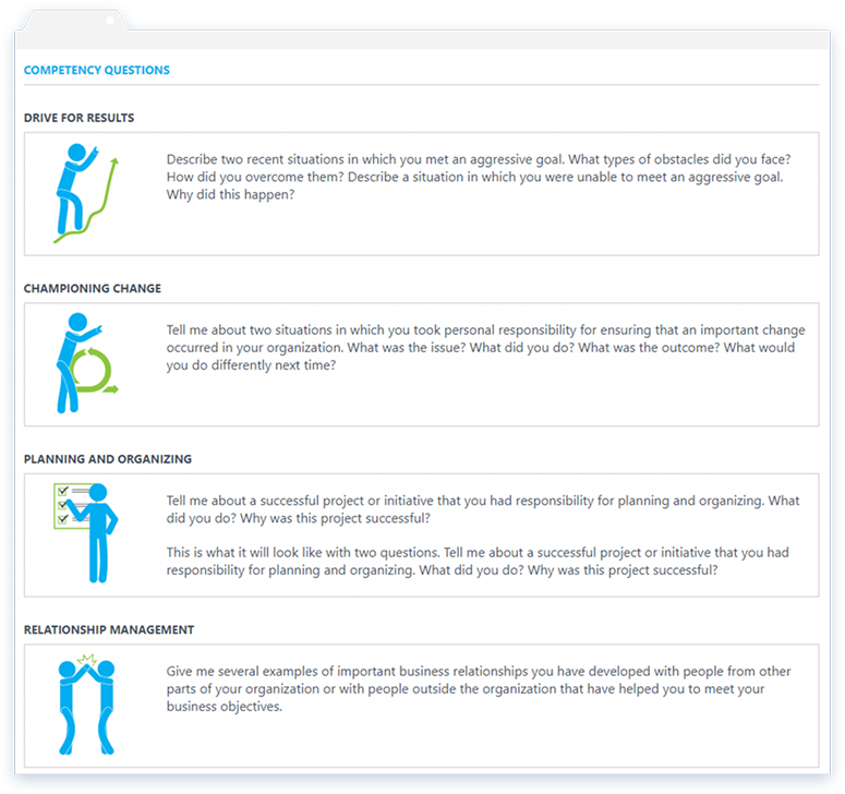 As part of its interview features, OutMatch provides personalized interview questions based on a candidates' areas of weakness